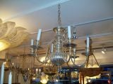 Exquisite 6 arm silver-plated chandelier