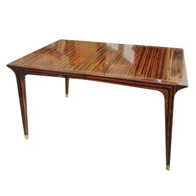 Exquisite Faux Painted Mid Century Modern Dining Table At