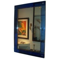 Art Deco Cobalt Blue Mirror