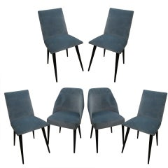 A Set of Six Mid-century Modern Dining Chairs