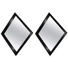 Pair of Sculptural Cerused Mirrors
