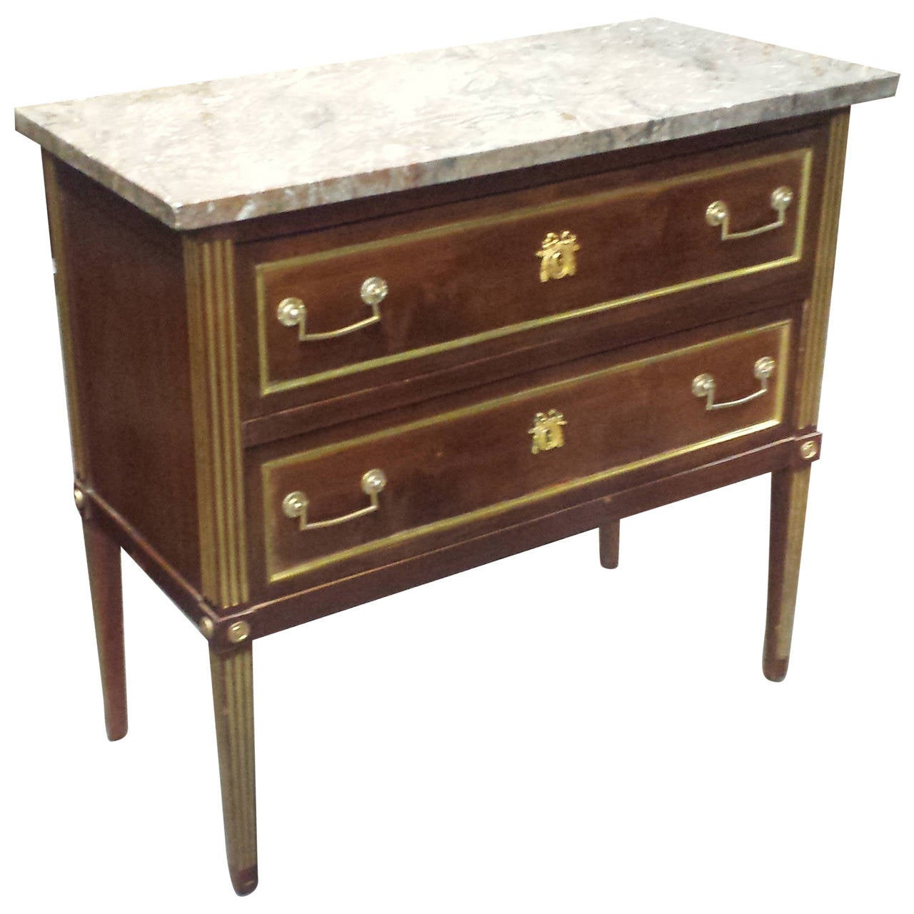 Baltic Marble-Top Commode in the Neoclassical Manner For Sale