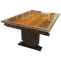 Inlaid Dining Table in the Ruhlmann Manner