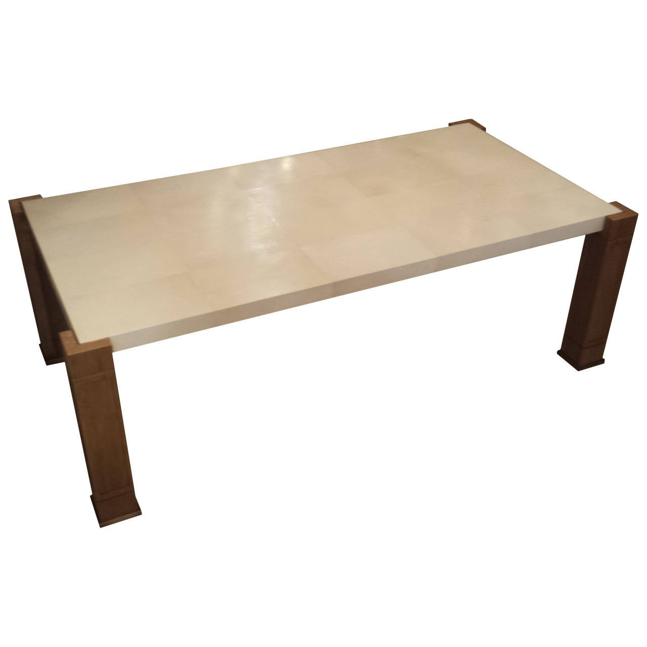 Exquisite Parchment And Cerused Oak Coffee Table For Sale At 1stdibs