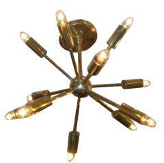12 Light Brass Sputnik Chandelier