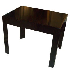 Ebonized Parsons Style Table