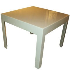 Lacquered Parson's Style  Table