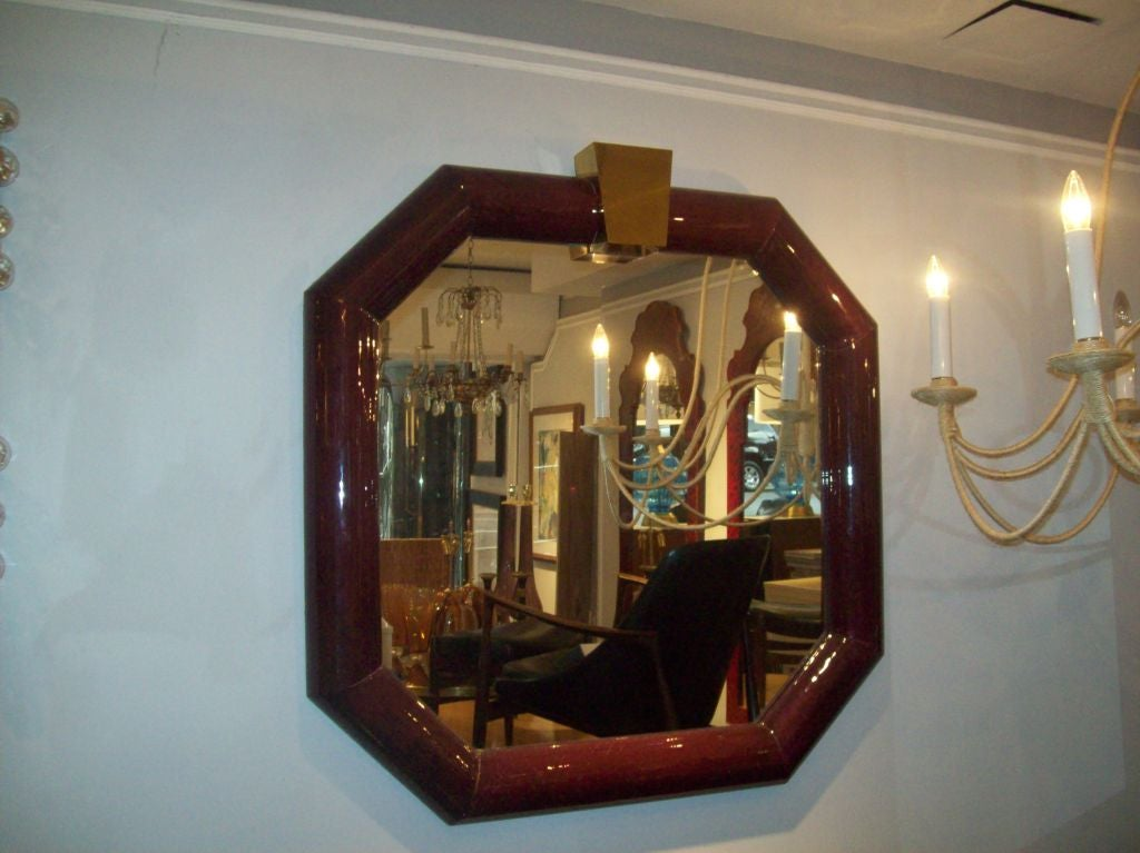 Lacquered  Mirror in the Manner of Karl Springer 2