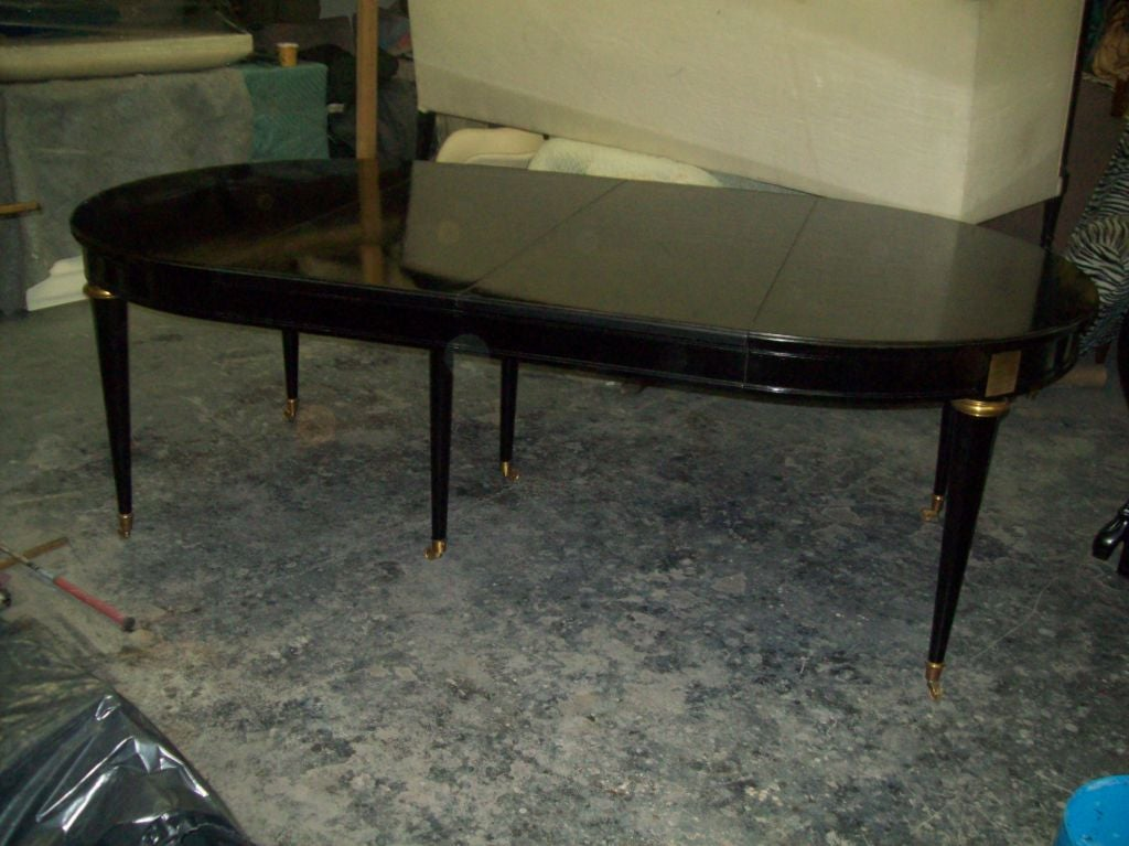 Directoire style 7 5 ft long ebonized dining table on for 5 foot dining room table
