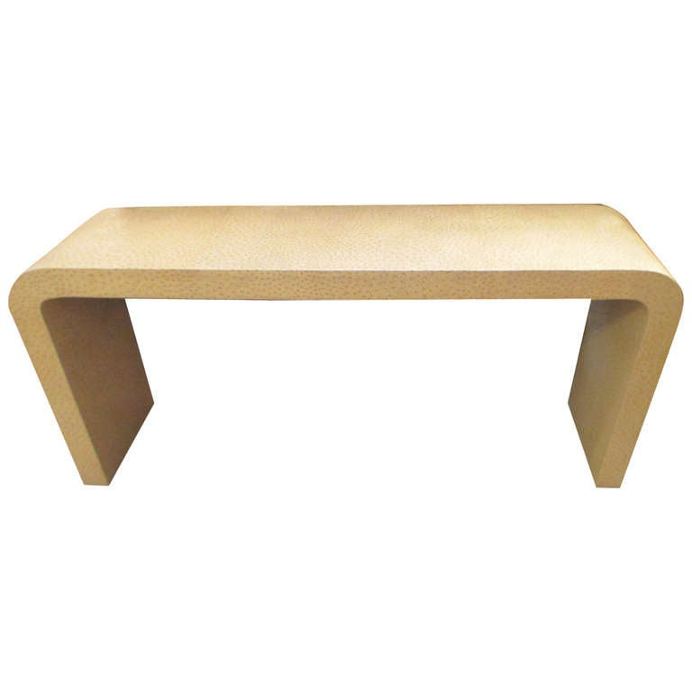 Faux Ostrich Console Table For Sale At 1stdibs
