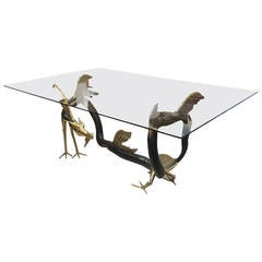 "Rare and Signed Jacques Duval-Brasseur Bronze ""Dragon"" Dining Table"