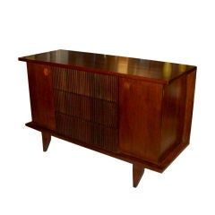 Unusual Mid-Century Sideboard with Bamboo Drawers