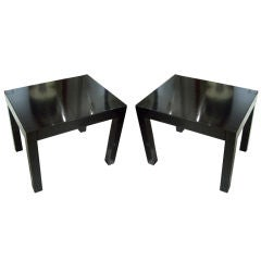 Pair of Ebonized Parsons Style Tables