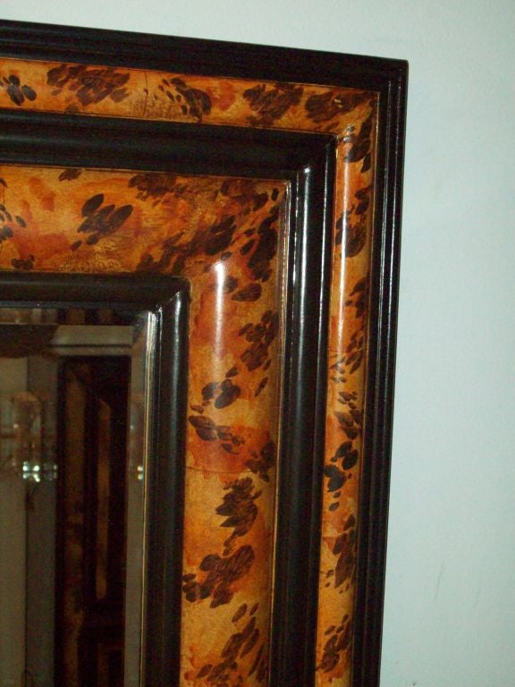 Unknown Pair of Faux-Painted Bevelled Mirrors For Sale