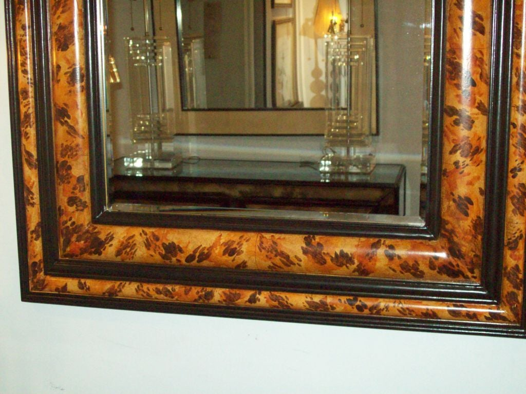Pair of Faux-Painted Bevelled Mirrors In Excellent Condition For Sale In New York, NY