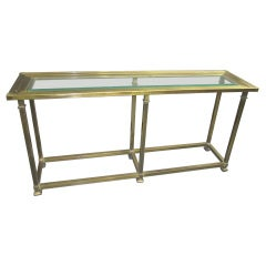 Brass Console with Bevelled Glass Top