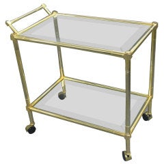 Two Tiered Brass Cart