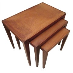A Set of Three Mid-Century Modern Nesting Tables