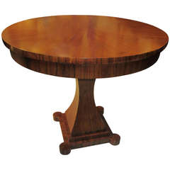Neoclassical Style Circassian Walnut Dining Table with Two Leaves