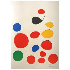 Alexander Calder, Color lithograph, Signed and Numbered 1/115