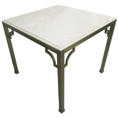 Brass Marble Top Gaming Table