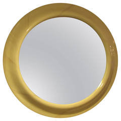 Oversized Circular Lacquered Mirror