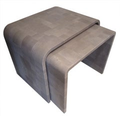 Custom Shagreen Patchwork Nesting Tables