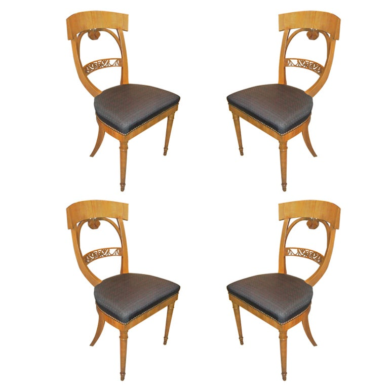 Set 4 Biedermeier Chairs For Sale at 1stdibs