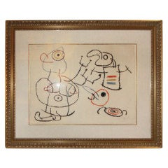 "Joan Miro, ""Ubu Aux Baleares II""  Signed and Numbered 66/120"