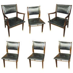 A Set of 6 Faux-painted Dining Chairs