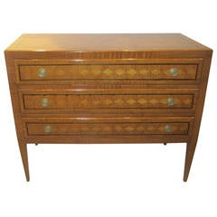 Exquisite French Parquetry Commode in the Neoclassical Manner