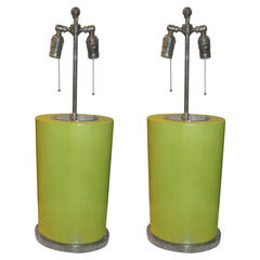 Sculptural Pair of Modern Table Lamps