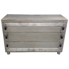 Modern Silver Leafed Chest Of Drawers