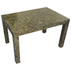 Faux Painted Parsons Table