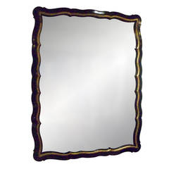 Whimsical, Ebonized, Giltwood Mirror
