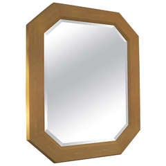 Octagonal Shagreen Mirror