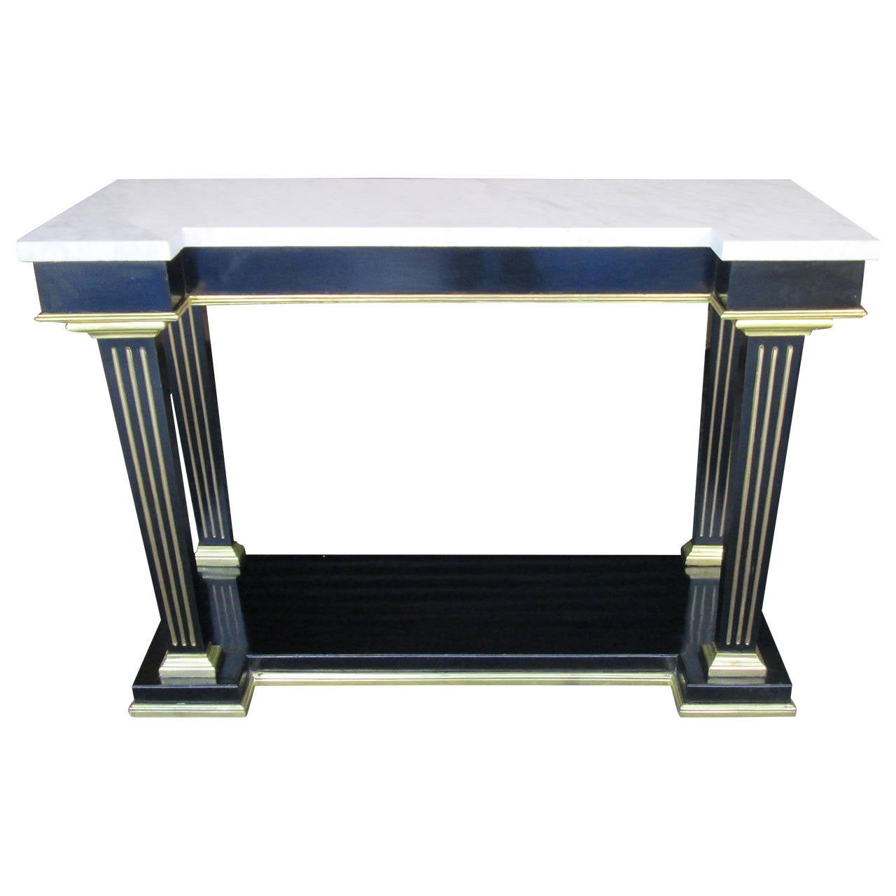 Regency Style Marble-Top Console with Bronze Mounts