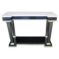 Regency Style Marble-Top Console with Applied Bronze