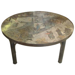 Philip And Kelvin LaVerne Bronze Patinated Coffee Table