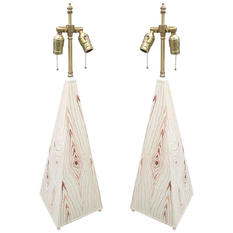 A Pair Of Faux Painted Lamps For Sale At 1stdibs