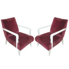 Pair of Sculptural French 1950s Armchairs