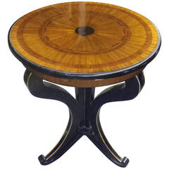 Biedermeier Style Table on Splayed Legs