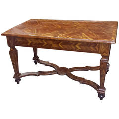 Parquetry Center Table in the Manner of William and Mary