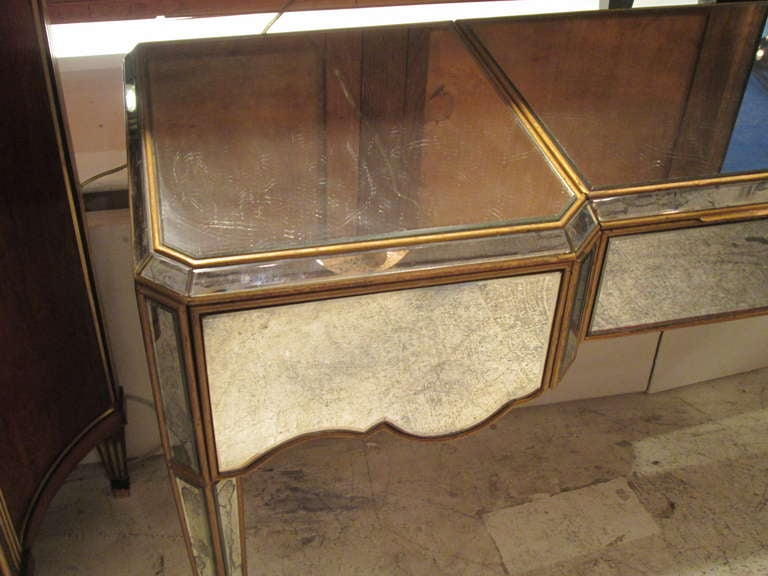Exquisite French 40 S Mirrored Writing Desk Vanity At 1stdibs