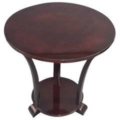 Mahogany Art Deco Circular Table