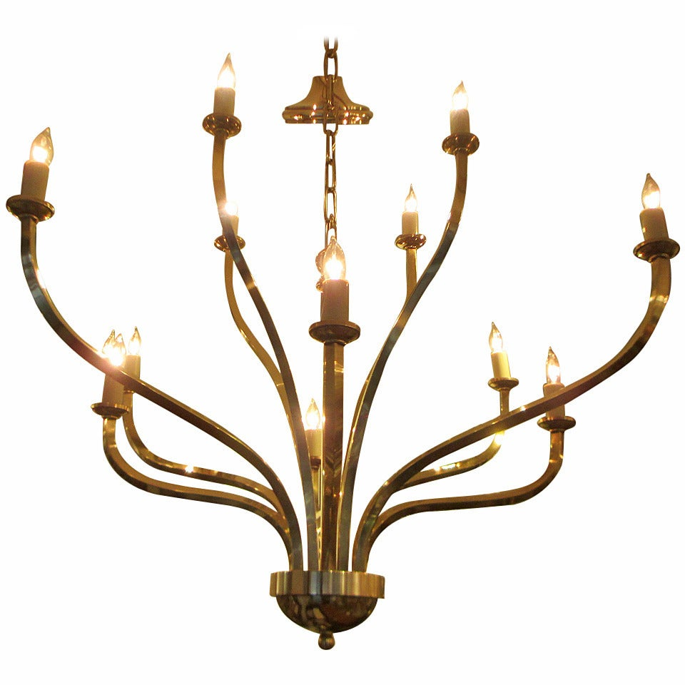 mid century modern twelve arms chandelier in the tommi. Black Bedroom Furniture Sets. Home Design Ideas
