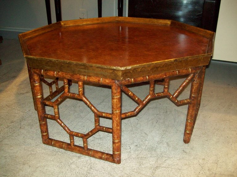 octagonal faux painted coffee table at 1stdibs