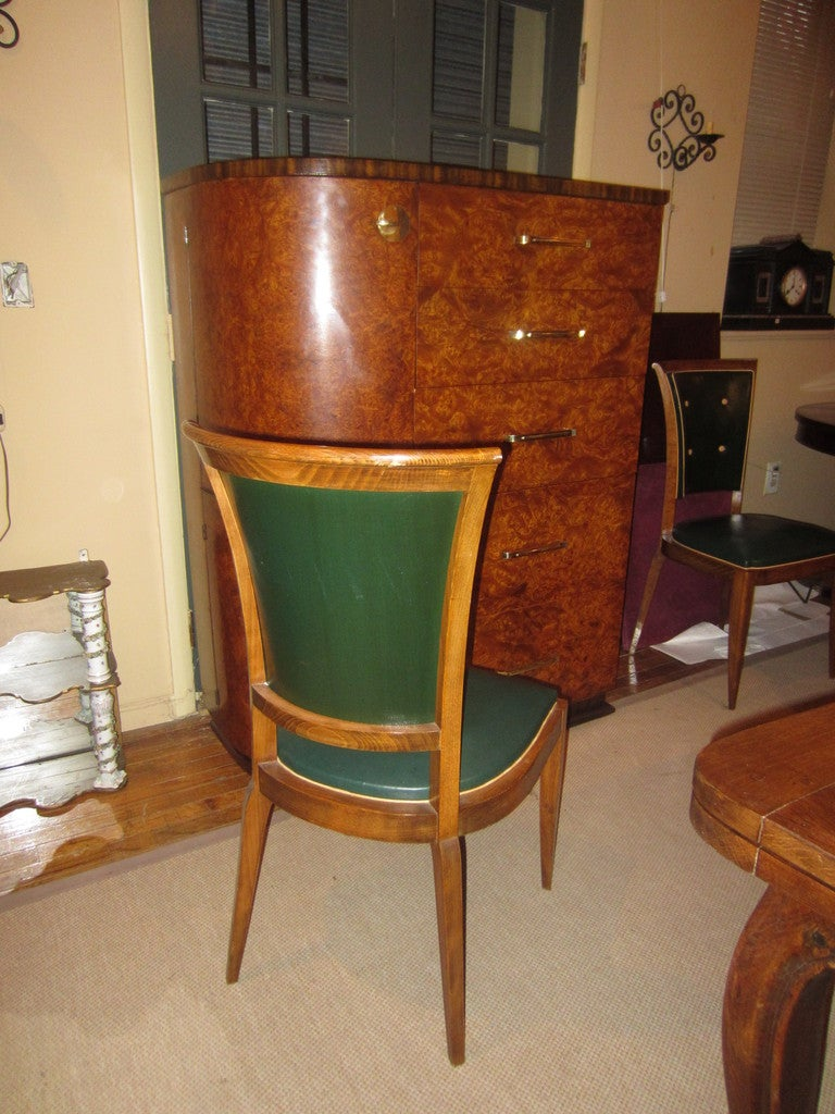 20th Century Set of Eight French Art Deco Dining Chairs