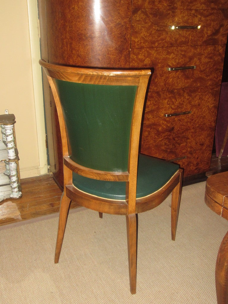 Set of Eight French Art Deco Dining Chairs For Sale at 1stdibs