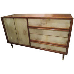 Italian Mid-Century Modern Parchment Chest